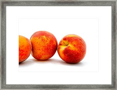 Just Peachy Framed Print by Don Bendickson