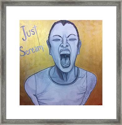 Just Scream Framed Print by Darlene Graeser