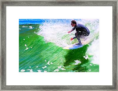 Just Surf - Santa Cruz California Surfing Framed Print by Mark E Tisdale