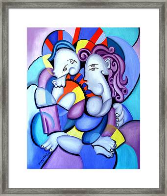 Just The Two Of Us Framed Print by Anthony Falbo