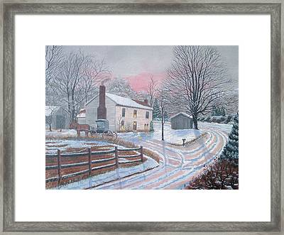 Just Visiting Framed Print by Seth Wade