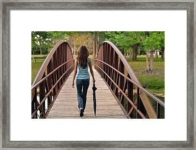 Just Walk Away Renee Framed Print by Laura Fasulo