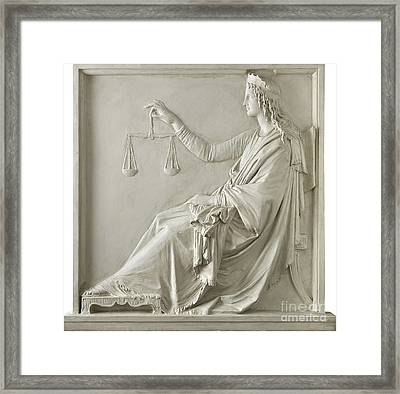 Justice Framed Print by Fondazione Cariplo