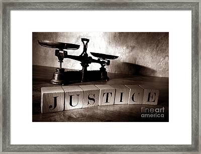 Justice Framed Print by Olivier Le Queinec