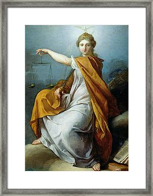 Justice Framed Print by Pierre Subleyras