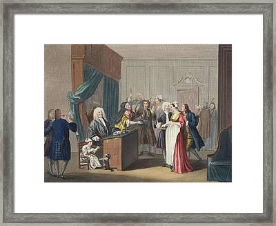 Justice Triumphs, Illustration Framed Print by William Hogarth