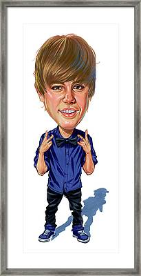 Justin Bieber Framed Print by Art