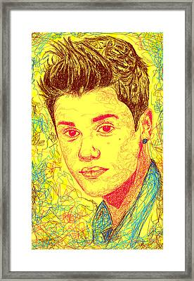 Justin Bieber In Line Framed Print by Kenal Louis