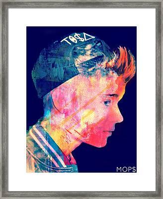Justin Bieber Framed Print by Jessica Echevarria