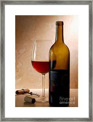 Justin Wine Painting Framed Print by Jon Neidert