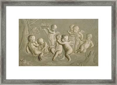Juvenile Bacchanalia, 1783  Framed Print by Grigoriy Ivanovich Ugryumov