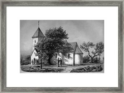 Jylland Thorstrup Kirke 1867 Framed Print by Celestial Images