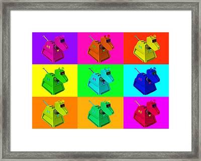 K 9 Framed Print by Leonard Lhos