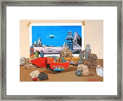 K. Henderson Celebrates National Science Fiction Day Framed Print by K Henderson