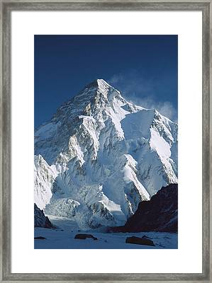 K2 At Dawn Pakistan Framed Print by Colin Monteath