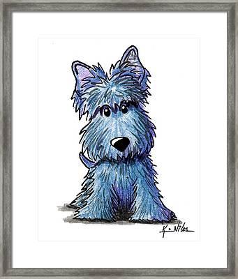 K9 Keanu Scottie Terrier Framed Print by Kim Niles