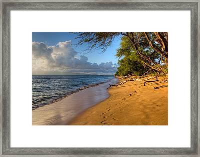 Kaanapali Beach Stroll Framed Print by Heidi Smith