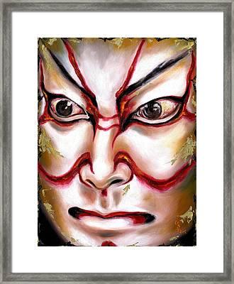 Kabuki One Framed Print by Hiroko Sakai