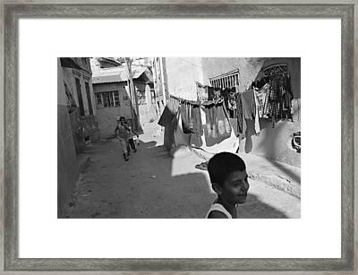 Kadifekale Neighborhood In Izmir In Turkey Framed Print by Ilker Goksen