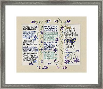 Kahlil Gibran - Children Framed Print by Dave Wood