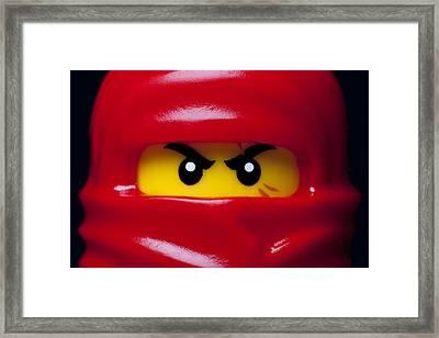 Kai Red Ninjago Framed Print by Samuel Whitton