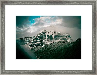 Kailas Mountain Tibet Home Of The Lord Shiva Framed Print by Raimond Klavins