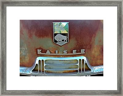 Kaiser Vintage Grill Framed Print by Tony Grider
