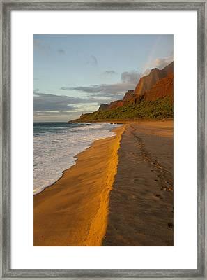 Kalalau Beach Framed Print by Douglas Peebles