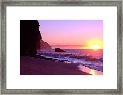 Kalalau Beach Sunset Framed Print by Brian Harig