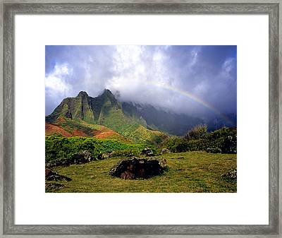 Kalalau Valley Kauai Framed Print by Kevin Smith