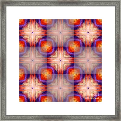 Kaleidoscope Combo 5 Framed Print by Louise Lamirande