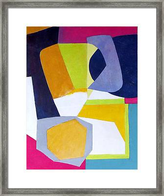 Abstract Angles Vi Framed Print by Diane Fine