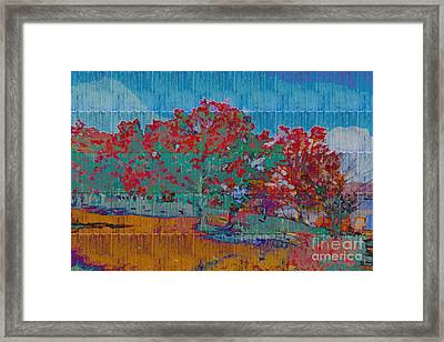 Kaleidoscopic Autumn Scene I Framed Print by Beverly Claire Kaiya