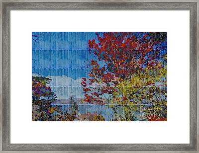 Kaleidoscopic Autumn Scene II Framed Print by Beverly Claire Kaiya