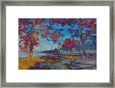 Kaleidoscopic Autumn Scene Iv Framed Print by Beverly Claire Kaiya