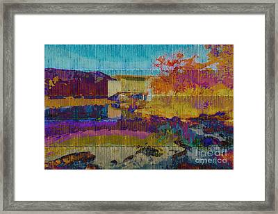 Kaleidoscopic Autumn Scene V Framed Print by Beverly Claire Kaiya