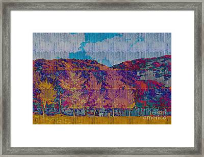 Kaleidoscopic Autumn Scene Vi Framed Print by Beverly Claire Kaiya