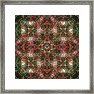 Kaleidoscopic Mandala  Framed Print by Gregory Scott