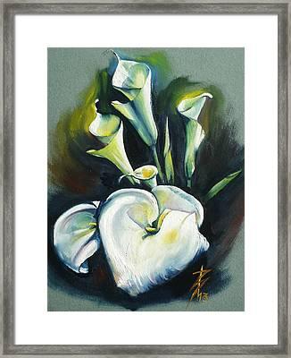 Kalos The Calla Lily Framed Print by Alessandra Andrisani