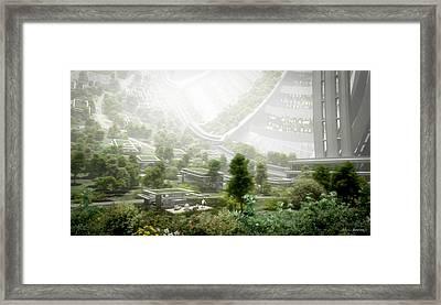 Kalpana Neighborhood View Framed Print by Bryan Versteeg