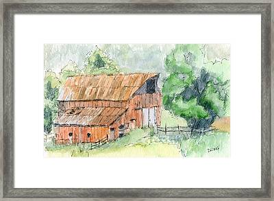 Kamas Barn Framed Print by David King