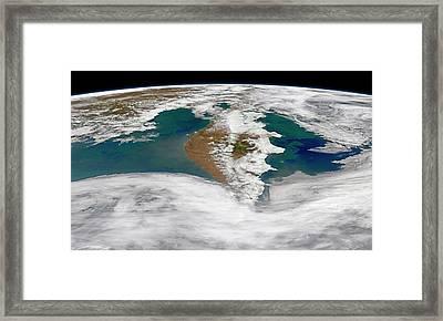 Kamchatka Peninsula Phytoplankton Bloom Framed Print by Norman Kuring, Nasa Ocean Color Group