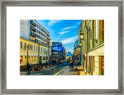 Kamergersky Lane Of Moscow 1 Framed Print by Alexander Senin