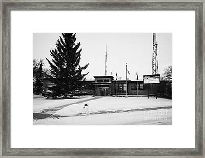 Kamsack Town Office Saskatchewan Canada Framed Print by Joe Fox