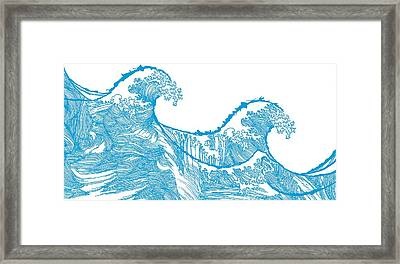 Kanagawa Wave Framed Print by Sarah Hough