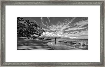 Kanahna Beach Maui Hawaii Panoramic Framed Print by Edward Fielding