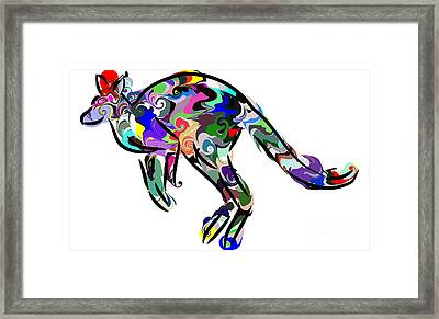 Kangaroo 2 Framed Print by Chris Butler
