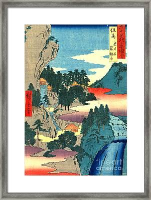 Kannon Temple Tajima Province 1854 Framed Print by Padre Art