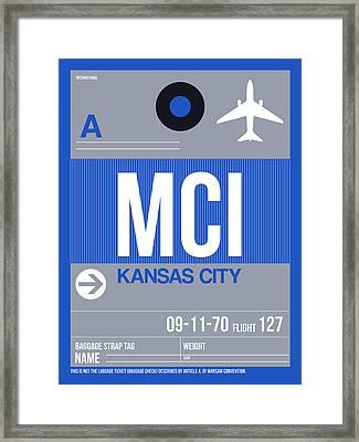 Kansas City Airport Poster 2 Framed Print by Naxart Studio