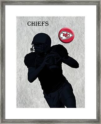 Kansas City Chiefs Football Framed Print by David Dehner